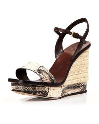 Tory Burch Platform Wedge Espadrille Sandals - Malaga Snake Bloomingdale'S Exclusive - Lyst