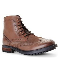 Ben Sherman Dark Brown Sanford Boots brown - Lyst