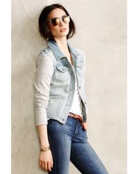 Pilcro - Terry Denim Jacket - Lyst