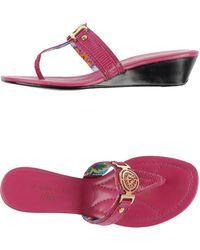 Anne Klein Thong Sandal purple - Lyst
