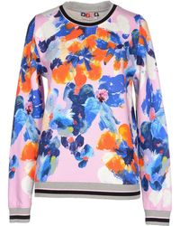 MSGM Printed Cotton-Fleece Sweatshirt pink - Lyst