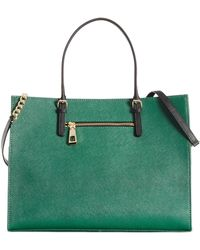 Calvin Klein Green Leather Satchel - Lyst