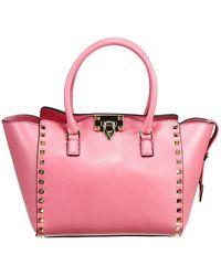Valentino Handbag Rockstud Mini Double Handle - Lyst