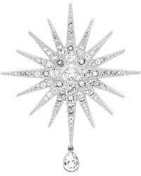 Swarovski Rhodium-plated Crystal Brooch - Lyst