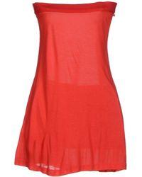 Miu Miu Red Short Dress - Lyst