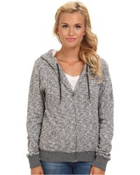Volcom Lived in Sherpa Full Zip Hoodie - Lyst