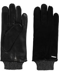 HUGO - Leather Gloves With Touchscreen Functionality: 'hh 14' - Lyst