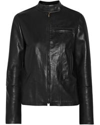 Maison Martin Margiela Black Leather Jacket - Lyst