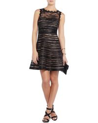 BCBGMAXAZRIA Banded Lace A Line Dress - Lyst