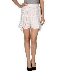 Chloé Bermuda Shorts white - Lyst