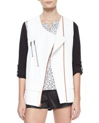 Waverly Grey - Akira Structured Zip-Pocket Moto Vest - Lyst