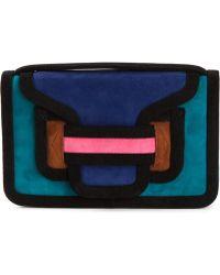 Pierre Hardy Contrast Panel Clutch Bag - Lyst