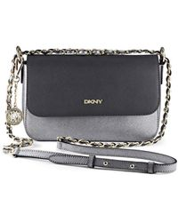 DKNY Metallic Saffiano Leather Crossbody - Lyst