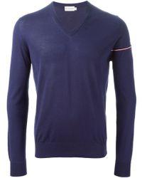 Moncler V-Neck Sweater - Lyst