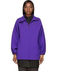 Costume National Purple Wool Crepe Jacket - Lyst