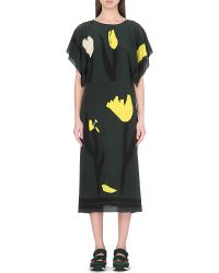 Marni Abstract Floral Silk Dress - For Women - Lyst