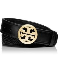 Tory Burch - Marion Quilted Logo Belt - Lyst