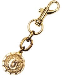 Lulu Frost Victorian Plaza Charm Number Keychain #0 gold - Lyst
