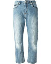 Philipp Plein Distressed Boyfriend Jeans - Lyst