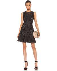 J. Mendel Paneled Mixed Lace Dress - Lyst