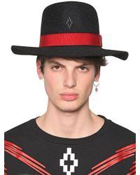 Marcelo Burlon - Gaucho Rabbit Fur Felt Wide Brim Hat - Lyst