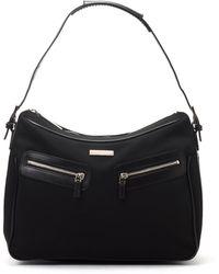 Gucci Black Zip Shoulder Bag - Lyst