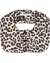 Carven Leopard Collar - Lyst