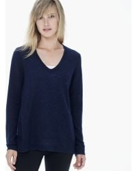 James Perse Lightweight Cashmere Vneck - Lyst