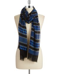 Michael by Michael Kors Sheer Patterned Scarf - Lyst