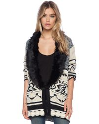 Mink Pink Mountain Tribe Cardigan - Lyst