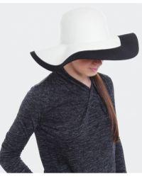 Helene Berman Felt Contrast Brim Hat - Lyst