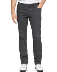Calvin Klein | 5-pocket Grey Slim Fit Straight Leg Pants | Lyst
