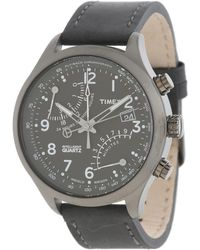 Timex - Intelligent Quartz Fly Back Chronograph Leather Strap Watch - Lyst