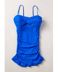 Anthropologie B Ruched Maillot - Lyst