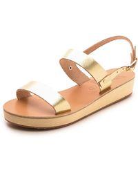 Ancient Greek Sandals Clio Platform Sandals - Platinum - Lyst