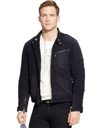 Polo Ralph Lauren Knit Moto Jacket - Lyst