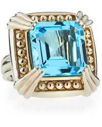 Slane - Sterling Silver Voltaire Ring W/ Blue Topaz - Lyst