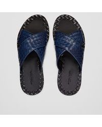 Bottega Veneta | Sandals In Pacific Intrecciato Calf | Lyst