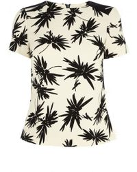 Oasis Mono Palm Print Top - Lyst