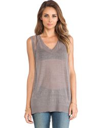 Duffy - Linen Pullover Top - Lyst