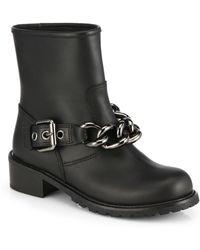 Giuseppe Zanotti Moto Chain-Detail Leather Boots - Lyst