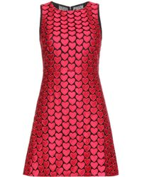 Alice + Olivia Everleigh Embroidered Shift Dress - Lyst