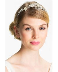 Halo - 'juniper' Crystal & Faux Pearl Headband - Metallic - Lyst