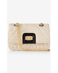 Express Straw Quilted Chain Strap Shoulder Bag - Lyst