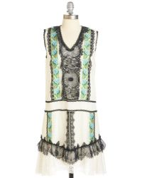Anna Sui All Falls Into Lace Dress multicolor - Lyst