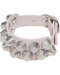 Balenciaga Giant Silver Bracelet Stud M - Lyst