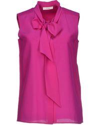 Celine Purple Shirt - Lyst