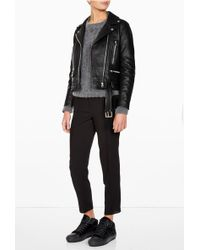 Acne Studios Mock Leather New Biker - Lyst