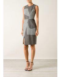 Prabal Gurung Grey Wool Dress - Lyst