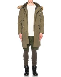 NLST - Nylon Parka With Faux Fur Trim - Lyst